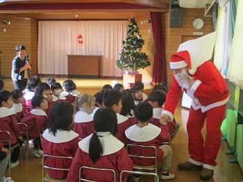 サンタさんと握手